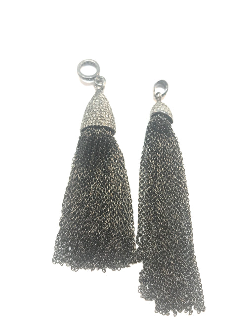 Tassel diamond and silver