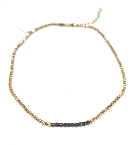 Braided Leather with Diamond Clasp Necklace