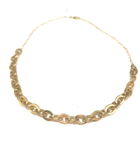 14k Yellow Gold and Diamond Circle Lariat