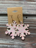 Glitter Christmas Earrings