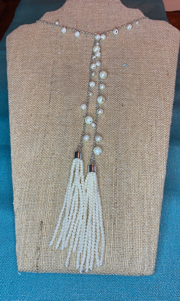 PEARL AND SILVER TASSLE