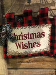 Christmas wishes hanger