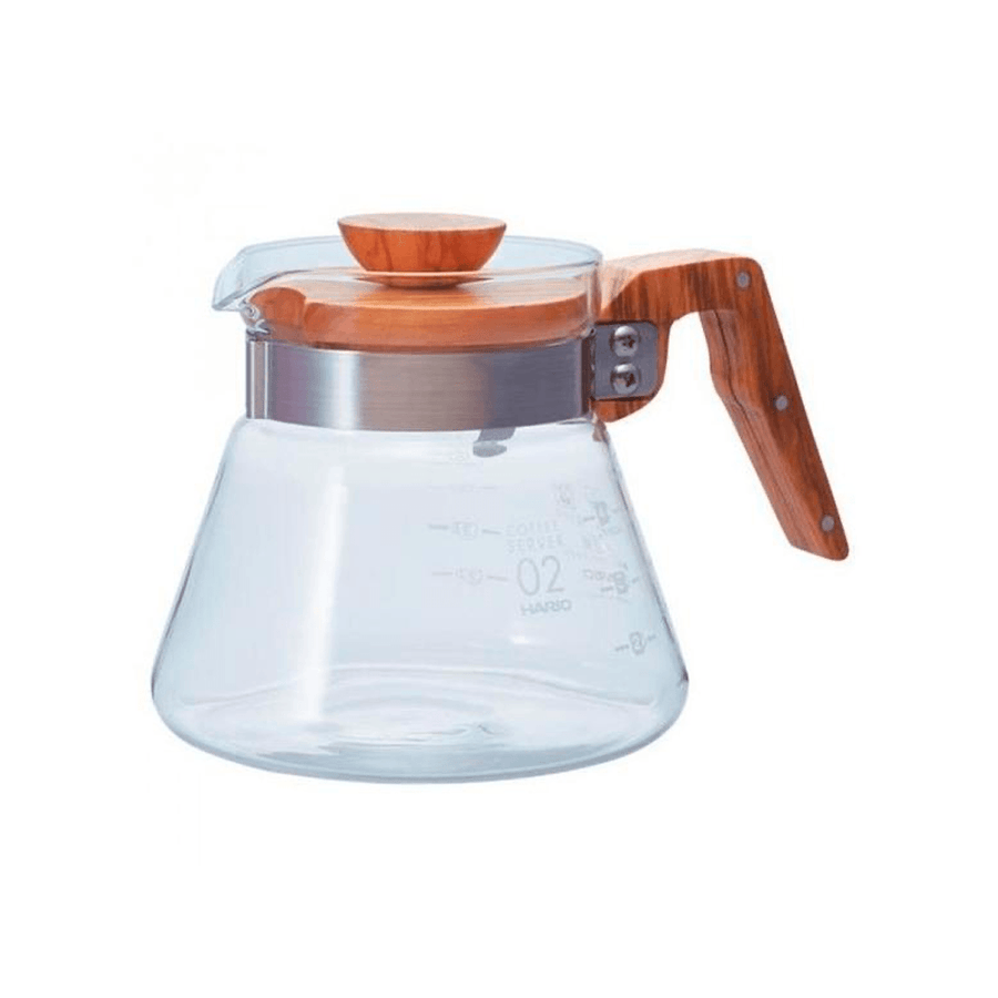 Server de Vidrio y Madera Hario 600 ml