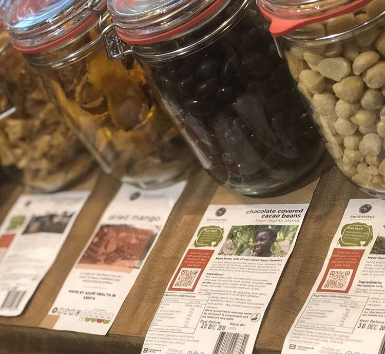 Storimarket ingredients in Radmore Farm Shop