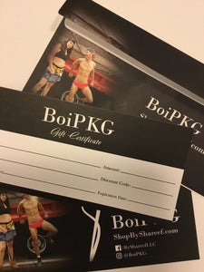 We now have gift certificates