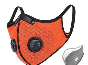 Orange Reusable Mask in stock