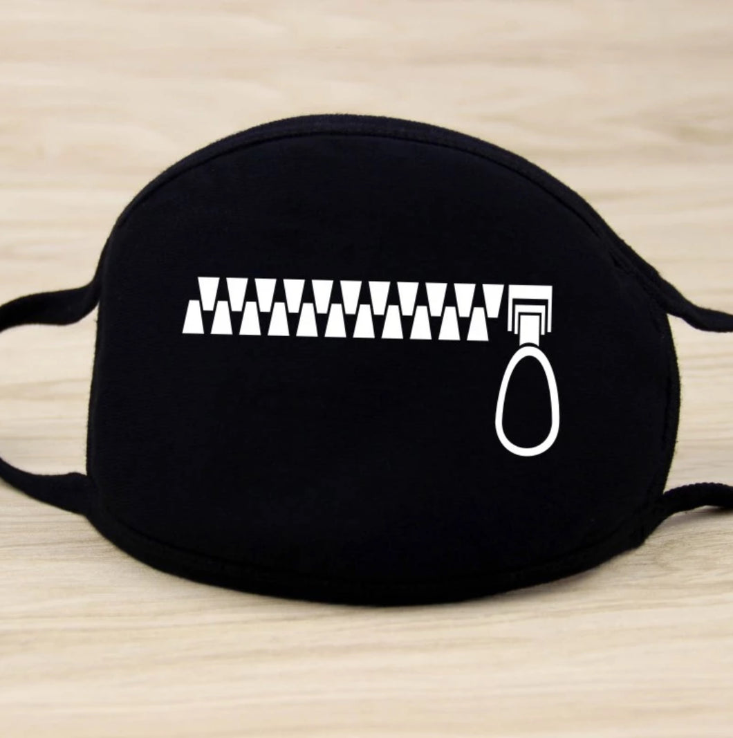 Zipper Cotton Mask in stock