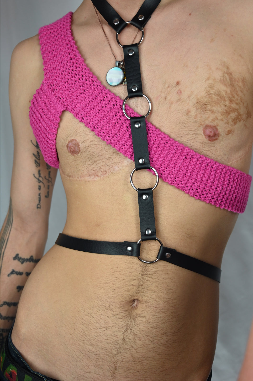 Hot Pink Knit Shoulder Harness