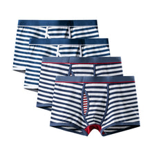 4Pcs striped Boxerbriefs