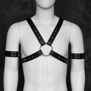 Vegan  Leather Body Chest Harness