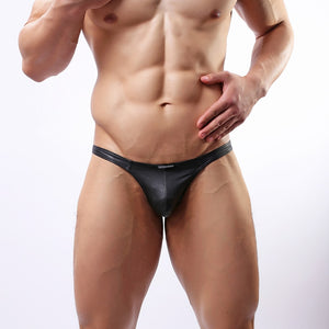Vegan Leather Black G-string Thongs  S-XXXXL