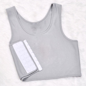 Breathable Buckle Short Chest Binder S-2XL