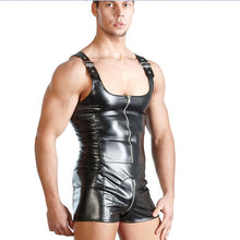 Leather Singlet Overall Shorts