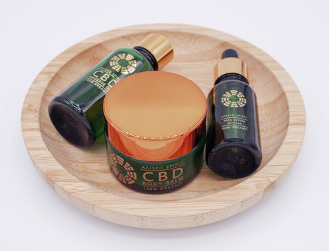 Raised Spirit 100% Organic CBD Skincare set