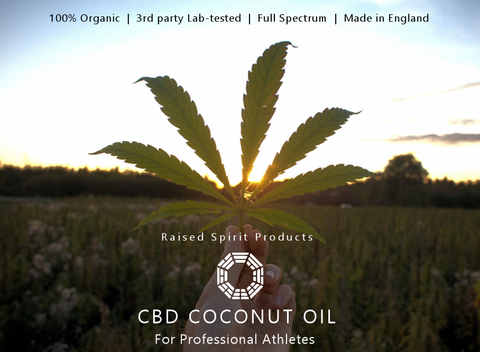 Organic CBD, 3rd party lab tested, 100% and legal for professional sports and elite athletes. Raised Spirit Products, made in England