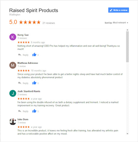 Raised Spirit 5 Star Customer Reviews and Testimonials