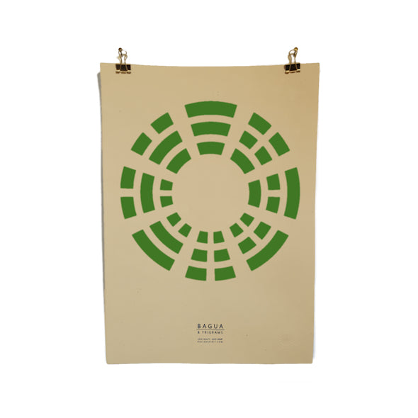 Hemp Poster - Green Bagua (Limited Edition)