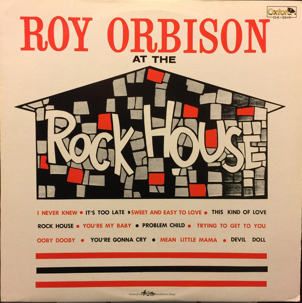 Roy Orbison ‎– At The Rock House