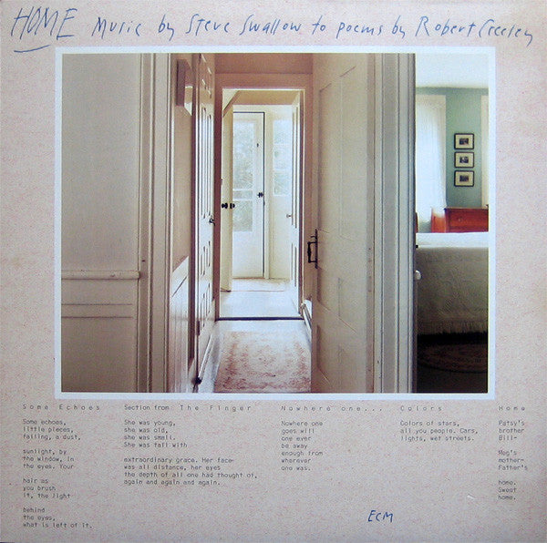 Steve Swallow ‎– Home · Music By Steve Swallow To Poems By Robert Creeley