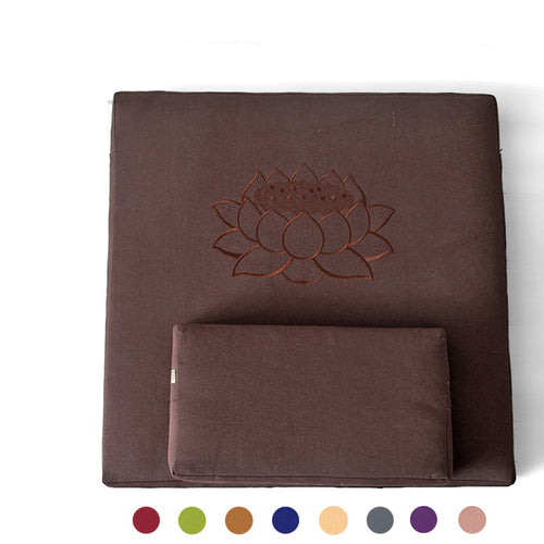 Zafu and Zabuton Meditation 2 Piece Cushion Set - Square 60/70/80cm (6 Colours)