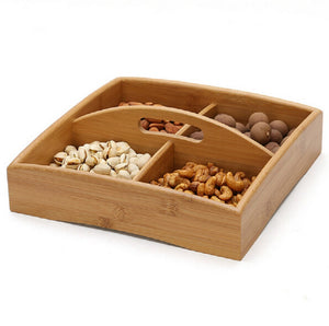4 Grid Bamboo Serving Tray