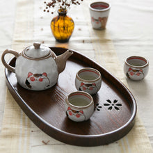 Japanese Style Oval Shape Wood Serving Tray
