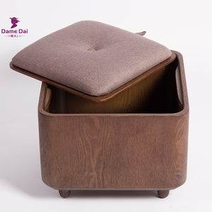 Luxury Wooden Storage Ottoman/Table