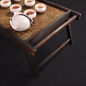 Folding Japanese Style Wooden Breakfast Tray
