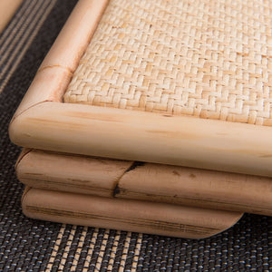 Hand Crafted Rattan Bamboo Tatami Zaisu Legless Floor Chair