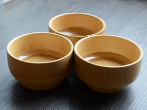 Natural Wooden Japanese Bowl (10 x 6cm)
