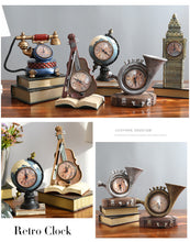 Vintage Style Clock Ornaments - nine designs available