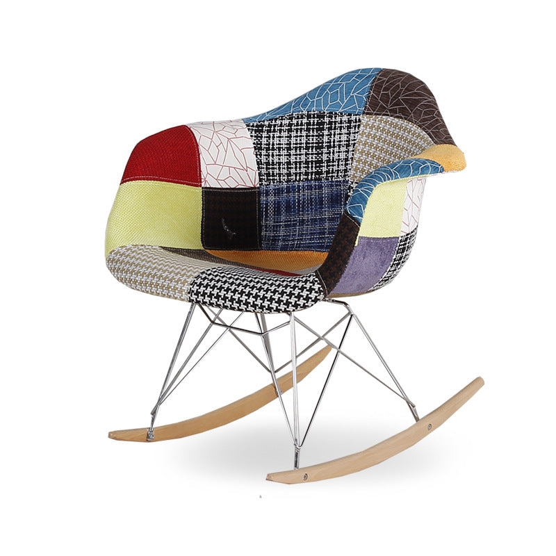 Multi-Colour Patchwork Rocking Chair