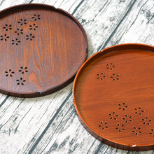 Cherry Blossom Round Wooden Serving Trays