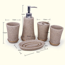 5 Piece Resin Bathroom Accessories