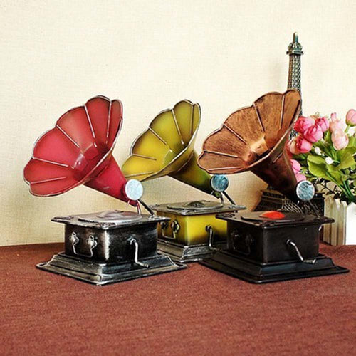 Antique Style Gramophone Look Ornament
