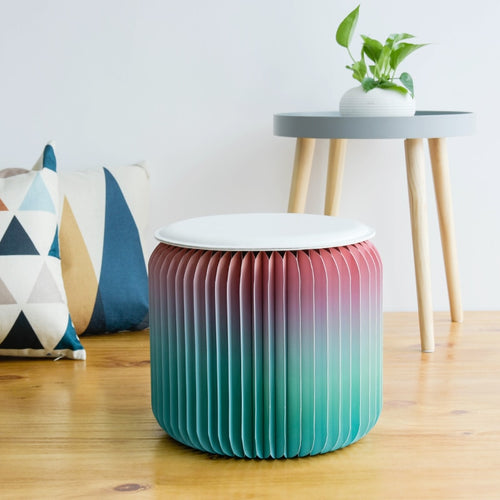 Funky Modern Folding Paper Design Stool - two colours available