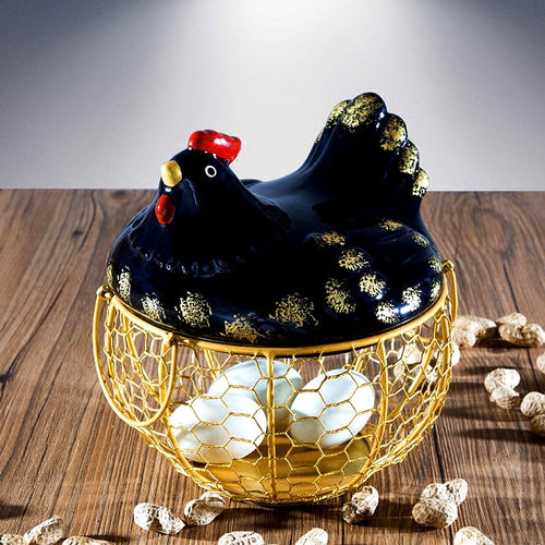 Rustic Chicken Egg Basket - two colours available