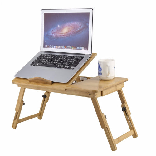 1PC Portable Folding Bamboo Laptop Table