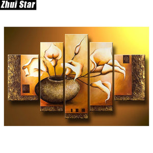 5 Piece Vase Wall Hanging