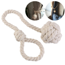 Knotted Rope Curtain Tie