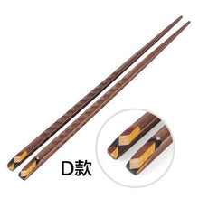 Four Pair Wooden Chopstick Set - four designs available