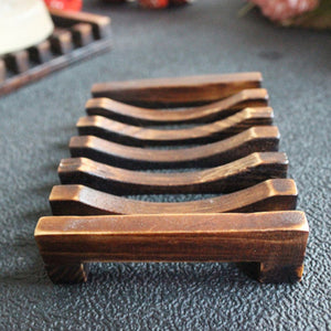 Rustic Look Wooden Soap Dishes (2 pieces)