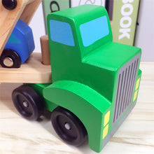 Wooden Truck and Four Car Set