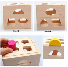 Wooden Sorting Cube