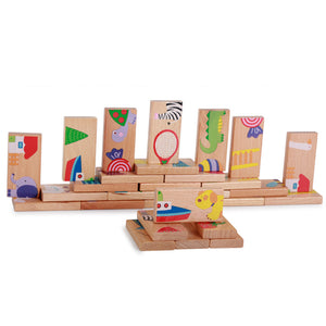 28 Piece Wooden Puzzle/Dominoes/Building Blocks