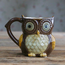 Creative 300ml Owl Mugs - four colours available