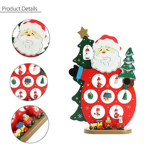 Wooden Santa Ornament