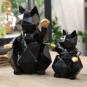 Geometric Lucky Cat Ornament - nine designs available