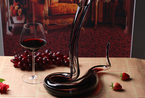 Crystal Glass Black Snake Wine Decanter