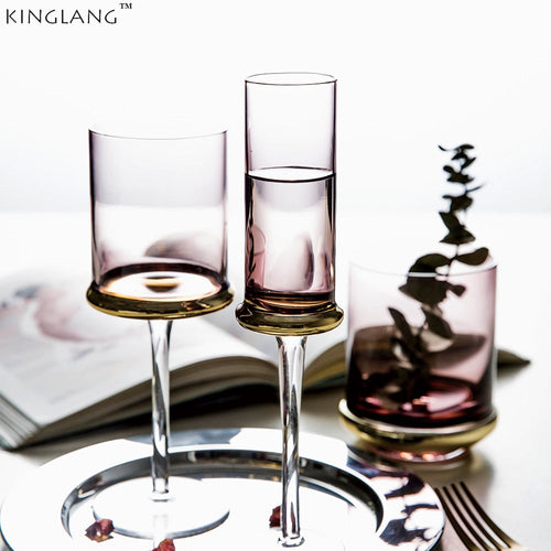 Square Vintage Glass Goblet - three designs available